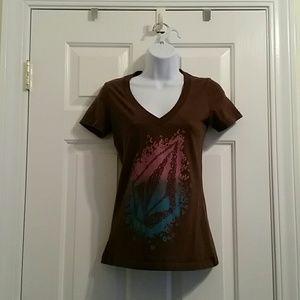 Volcom brown shirt XS